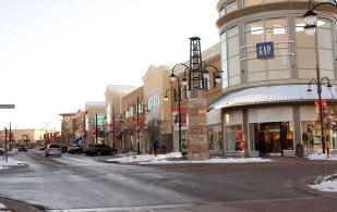 The GAP is located on the corner of Main St. &  E. Commons Ave. in the SouthLands.